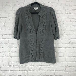 Grey Loft Cable Knit Cardigan Medium